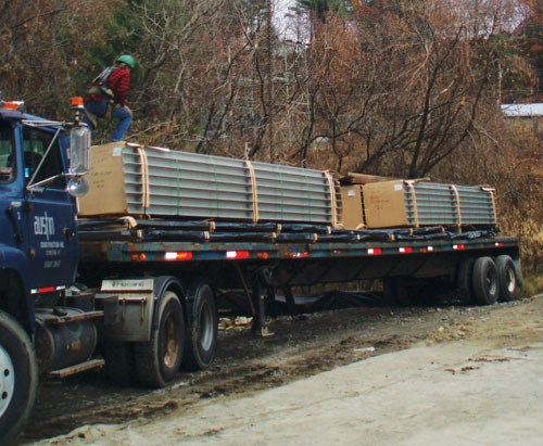 Structural Deck Components on a Truck