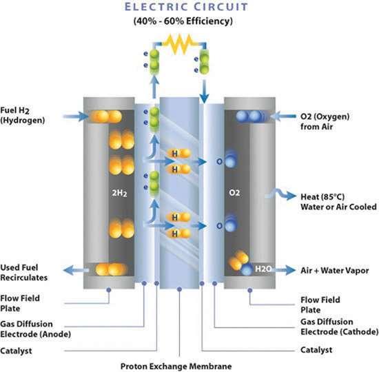 PEM Fuel Cell diagram