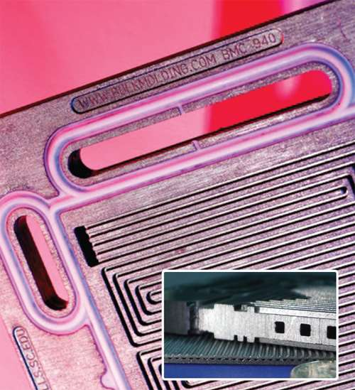 Bi-polar plate close up