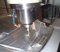 Luge mold machining