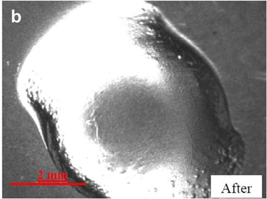 Pivot surface of a titanium orifice ring after polishing.