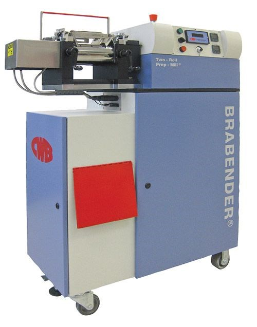 CW Brabender two-roll mill