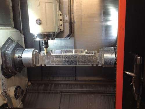 aerospace part made of 7075 aluminum