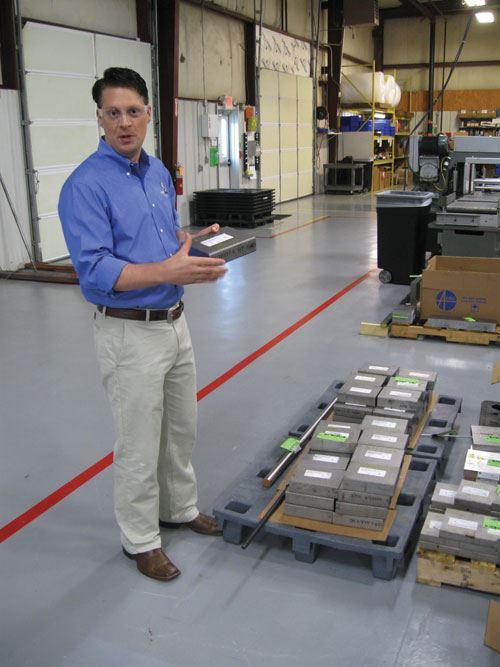 Jason Premo with arriving titanium 6-4 stock.