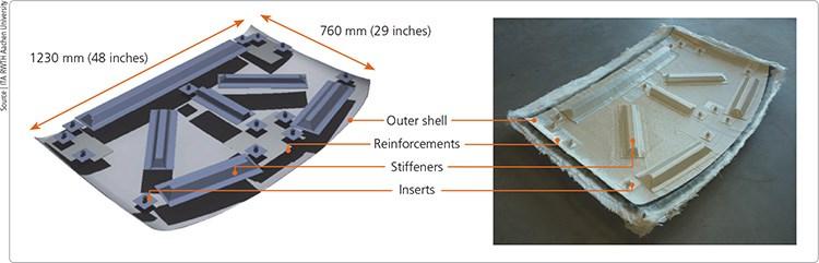 composite auto roof component
