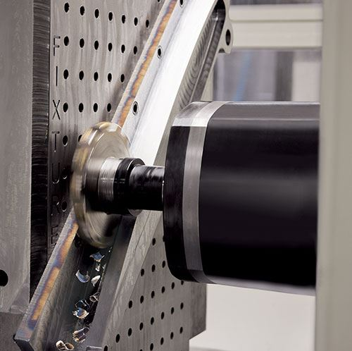 slot milled on an HMC engineered for titanium