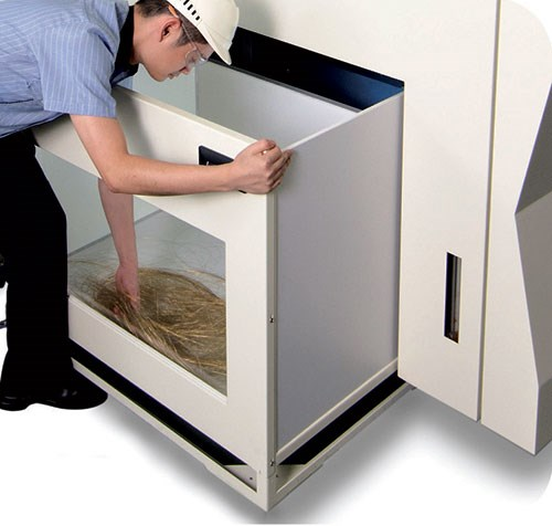 wheeled wire collection bins
