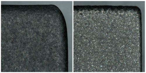 graphite and copper electrodes