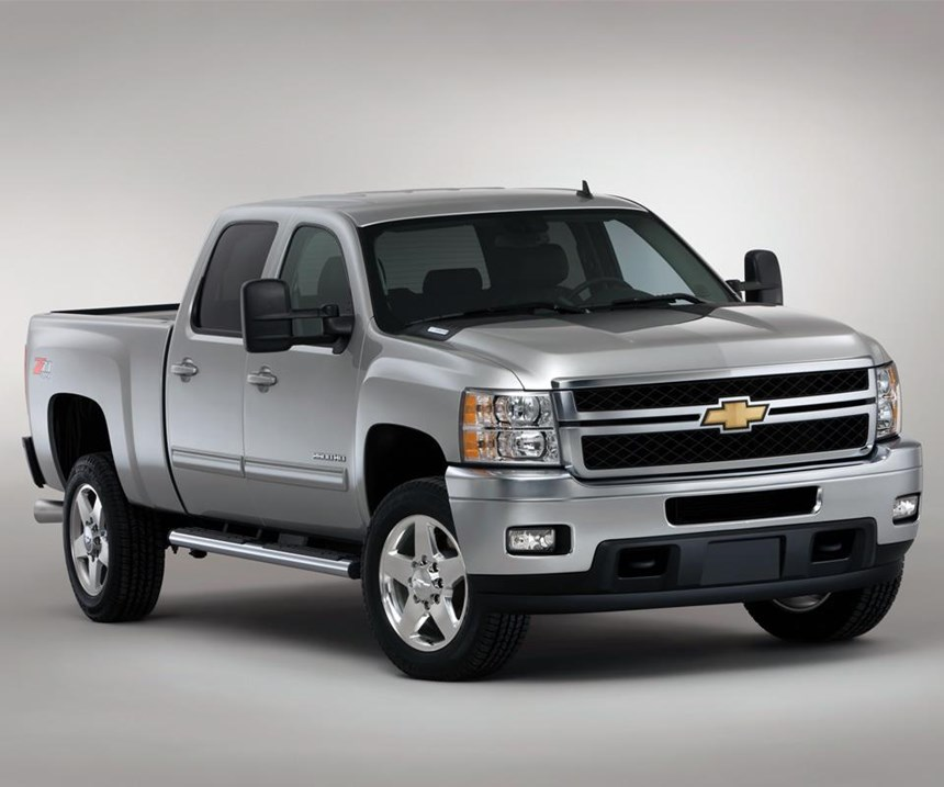 2011 Chevrolet Silverado—the truck that served as the baseline for the EPA-sponsored study that the CALM co-development lightweight door study used as its baseline to determine the mass reduction potential of mixed materials for closures. (This is a heavy-duty version of the truck. But it serves the purpose here, at least visually.)