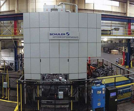 The hydroforming bay at Schuler's North American headquarters in Canton, Michigan.