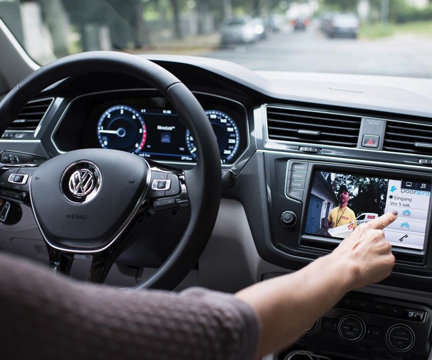 VW is integrating the capability to see who is ringing your door bell and communicating with that person even though you're miles away, driving your car.