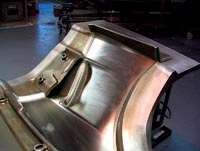 Typical Z06 front fender mold, showing removable inserts.