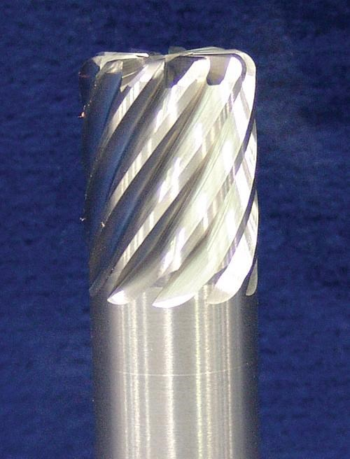 10-flute carbide end mill