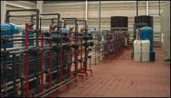 Part of the plant's water treatment system
