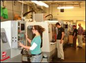 Three of the machine tools in McCann Tech's CNC machining department