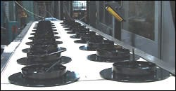 Parts being manufactured