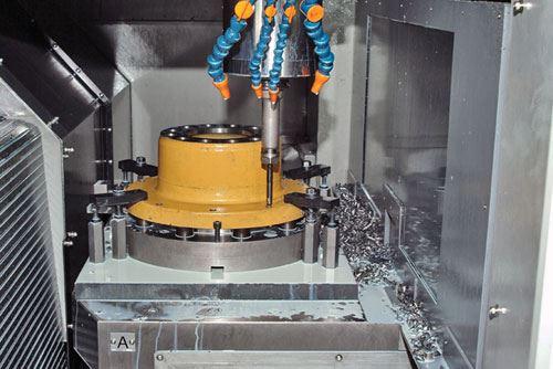 wheel hub in machine