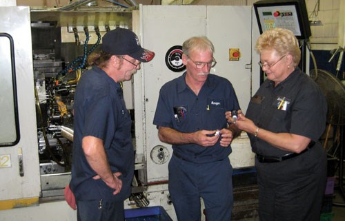 employees at machine