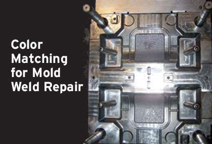 color matching for mold weld repair