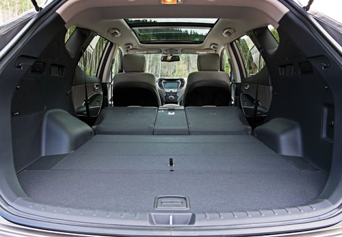 The Santa Fe Sport Offers 71.5 Ft3 Of Cargo Room Behind The First Row. The  Bigger Santa Fe Provides 80.0 Ft3.