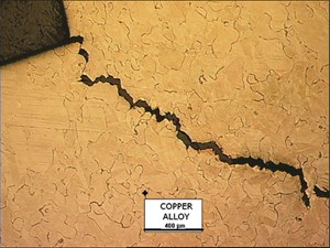 crack in copper alloy mold