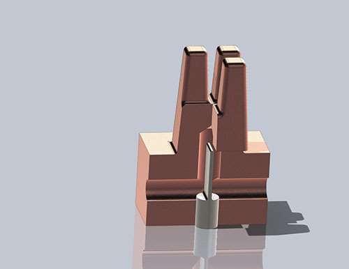 3D schematic mold insert
