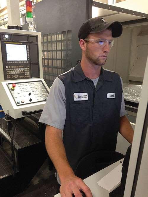 Josh Proctor, CNC skilled manufacturer