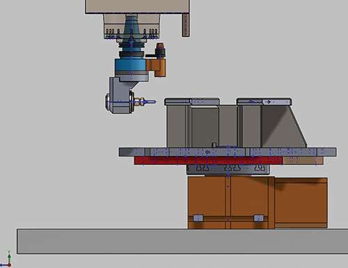 CAD model spindle centerline