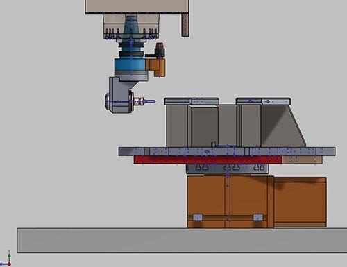 CAD model spindle centerline