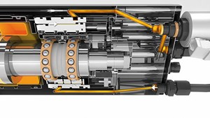 hydroviscous spindle damping cross section