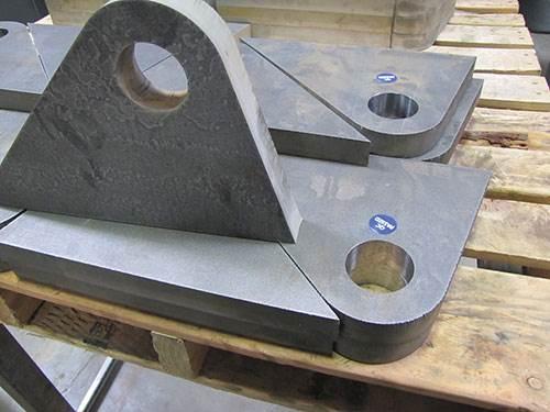 holes in steel brackets