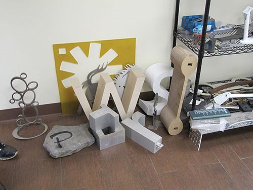 variety of shapes cut with waterjet
