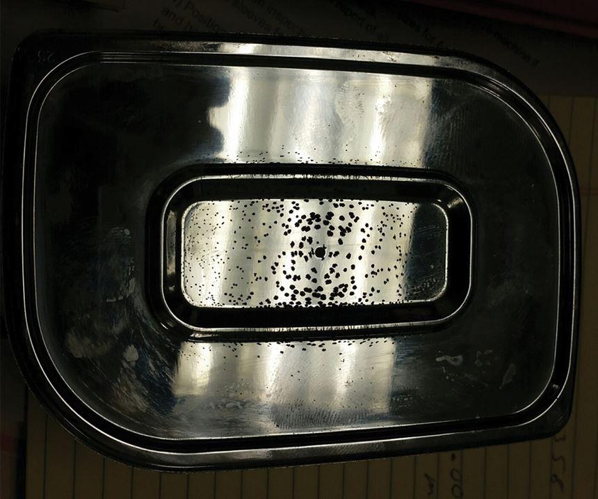 hard-chrome-plated mold cavity insert