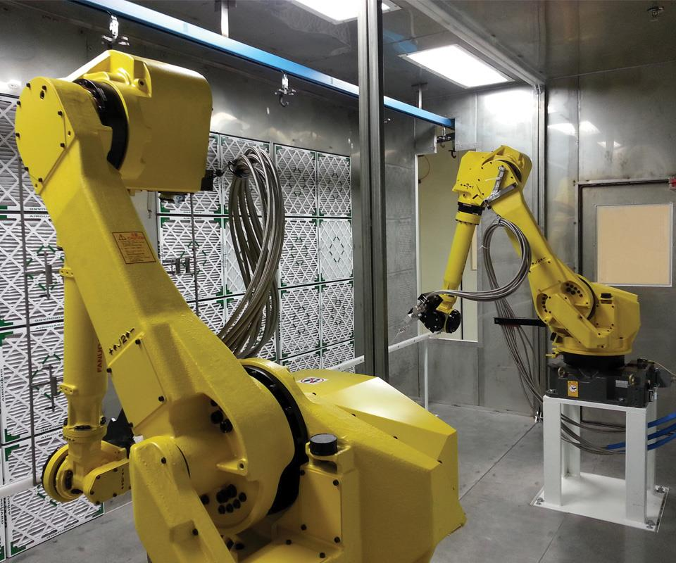 A dual-robot CO2 cleaning station can meet automotive specifications at a fraction of operating costs and floor space of traditional aqueous systems.