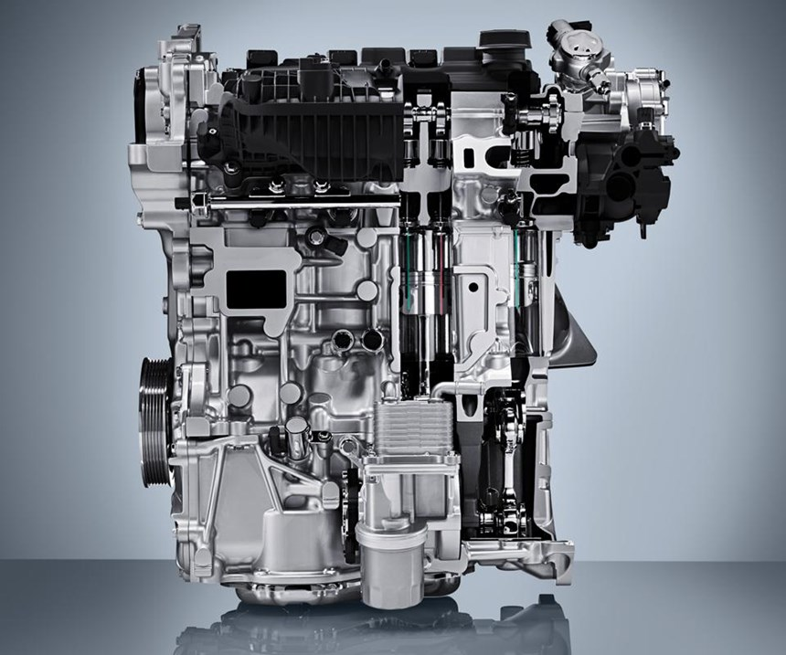 The Infiniti MR20 DDT 2.0-liter VC-Turbo engine: the first production engine with variable compression ratio capability.