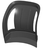 artist's rendering of the finished Genus seat back