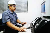 Employees respond to alarms