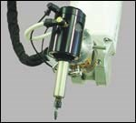 The tool's pneumatic motor/spindle assembly