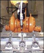 A Flexdeburr tool in action,