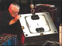 Mold in the final assembly stages