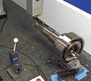Inspecting a turbine shaft