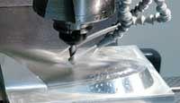 VMC machining a mold