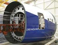 Fuselage sections of Boeing Dreamliner