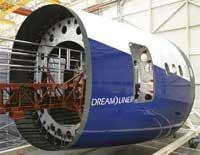 Fuselage sections of Boeing Dreamliner