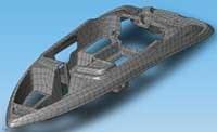 A CAD boat model