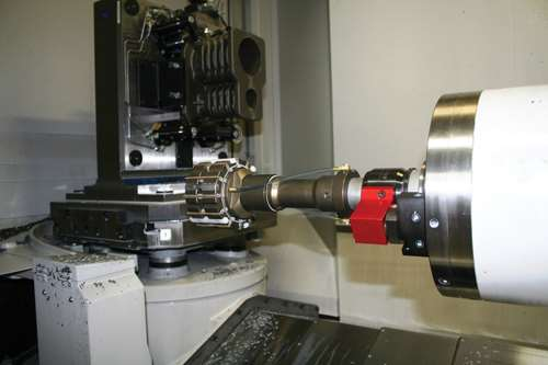 honing tool in spindle