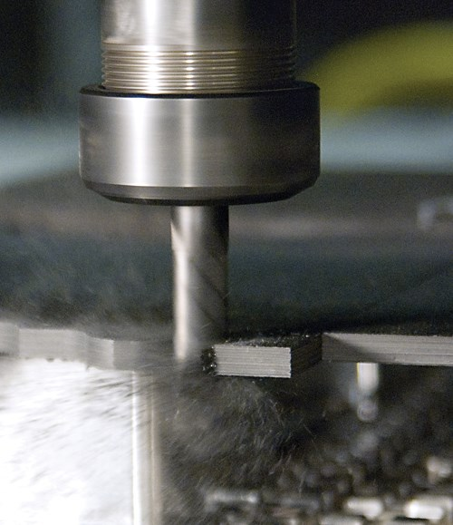 Compression cutting tool for composites