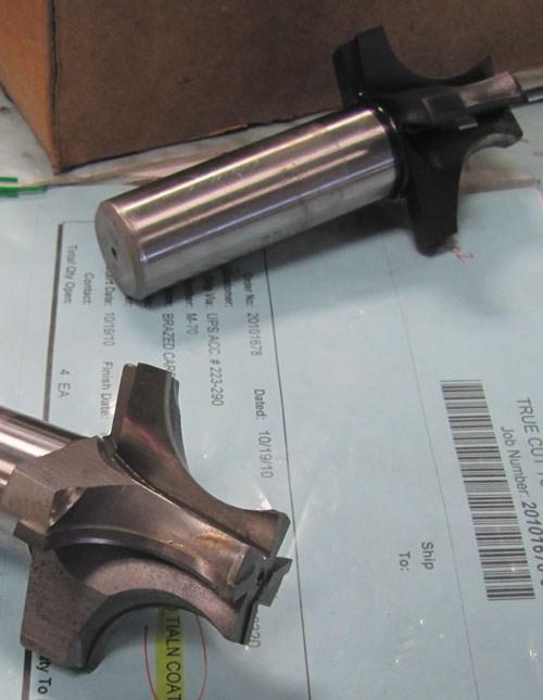 Brazed carbide radius form tool