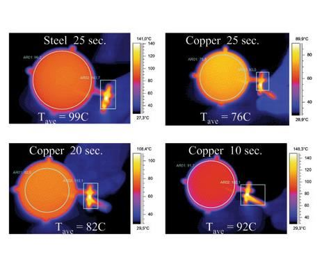 thermograph of polycarbonate lens