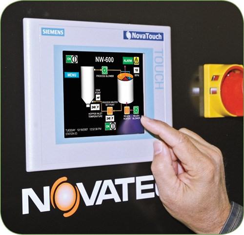 NovaWheel dryer touchscreen from Novatec